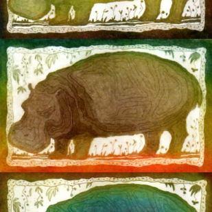 Hippo. Etching a la poupée