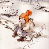 First Snow, Sledding